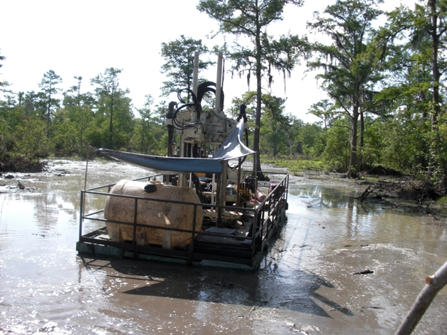 Support Equipment CPT on Marsh Buggy