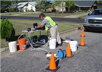 photo of man with field lab