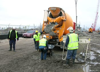 Photo of cement mixer